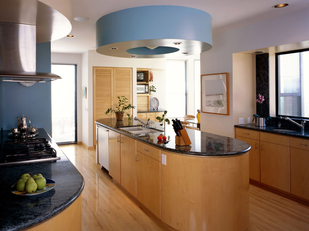 Luxury 2013 modern kitchen home interior with wooden