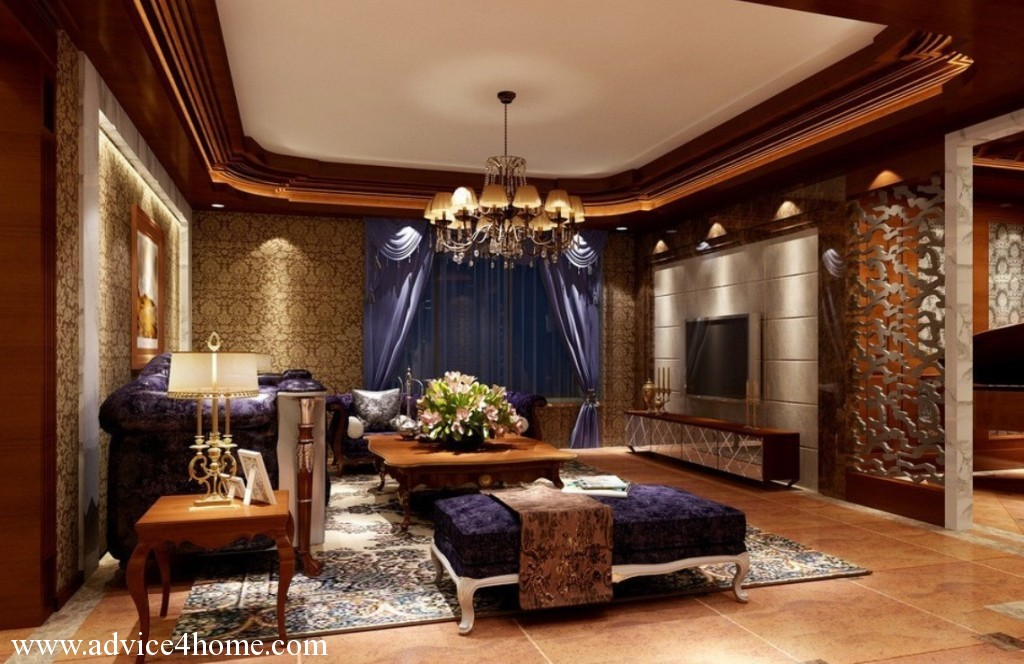 Luxury pop ceiling design in living room design for P o p indian home designs